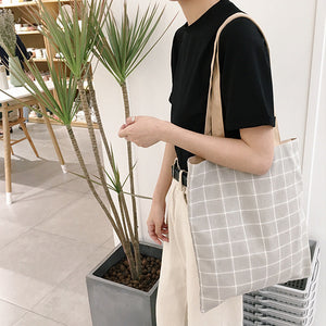 Simply Canvas+Cotton Double-side Shoulder Bag - 3 Colors