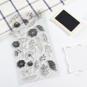 Transparent PVC Plant Stamps Set