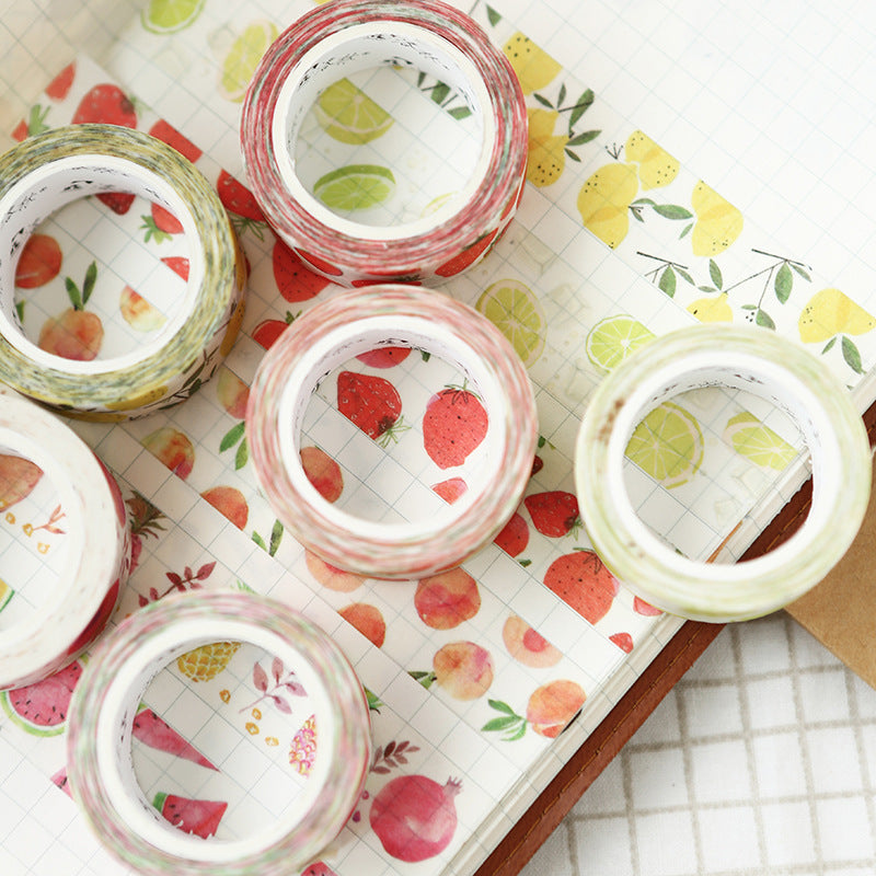 Watercolor Fruit Washi Tape