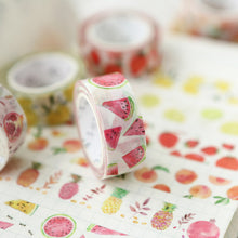 Load image into Gallery viewer, Watercolor Fruit Washi Tape