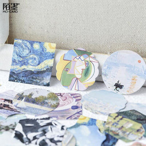 Creative Exquisite Art Museum Stickers - 46 Pcs