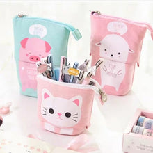 Load image into Gallery viewer, Lovely Cartoon Stand Stationery Pencil Case