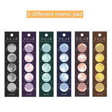 Load image into Gallery viewer, Moon Story Memo Pad - 3/6 Pcs