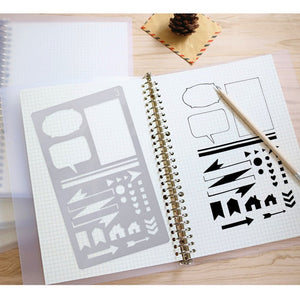 🎖Bullet Journal Planner Plastic Stencil Set - 5/20 Pcs