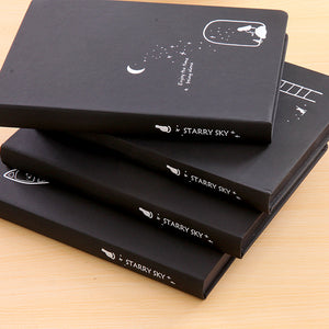 Creative starry sky notebook-black color