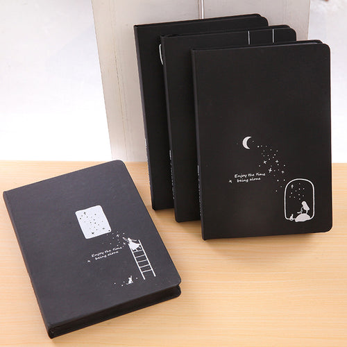 Creative starry sky noteboke-black color