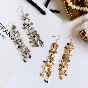Statement star strands drop earrings