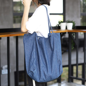 Large Denim Tote Bag
