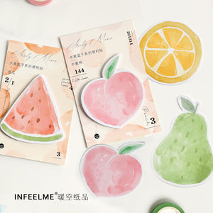 Summer Fruit Sticky Note - 4 Pcs