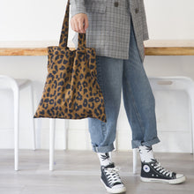 Load image into Gallery viewer, Leopard Print Tote Bag