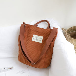 Life and Travel Cord Tote Bag
