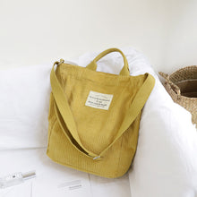Load image into Gallery viewer, Life and Travel Cord Tote Bag