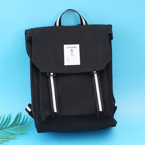 Canvas Tofu Backpack with color belt