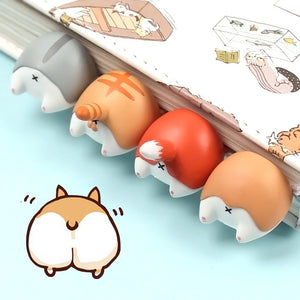 Creative Animal Butt Bookmarks - 2/4 Pcs