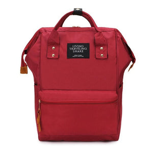 Preppy Style Canvas Backpack