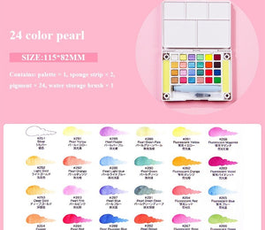 Sakura Portable Watercolor Set for beginner  - 24/36 Color