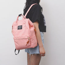 Load image into Gallery viewer, Preppy Style Canvas Backpack