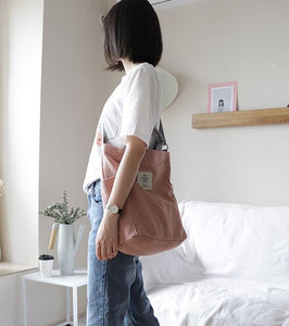🥇Canvas Casual Shoulder&Hand Tote Bag