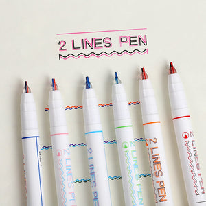 0.5mm Double Lines and Colors Pen