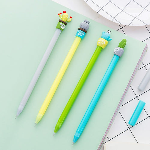 Kawaii Cactus Gel Pen - 4 Pcs