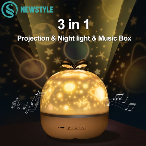 【New&Hot】Fantastic Galaxy Night Light/Speaker with 6 patterns
