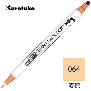 ZIG KURETAKE Dual-tip Clean Color Dot Marker