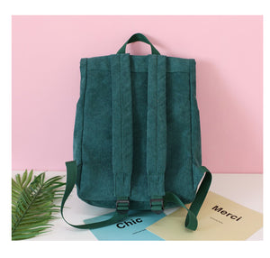 Corduroy  Pure Color Backpack - 4 colors
