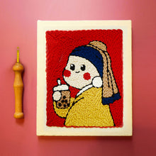 Load image into Gallery viewer, [DIY Beginner] Van Gogh/Girl with Bubble Tea- Punch Needle Starter Kit 10 pcs