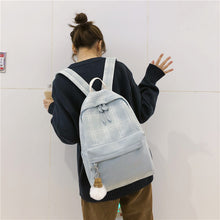 Load image into Gallery viewer, Lattice Linen Laptop Backpack