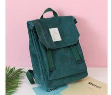 Load image into Gallery viewer, Corduroy  Pure Color Backpack - 4 colors
