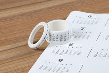 Load image into Gallery viewer, Month Calendar Washi Tape - 2/0.5cm * 7m