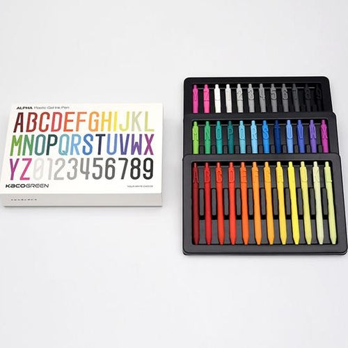 Creative Alphabet A-Z Number 0-9 Black Ink Gel Pen