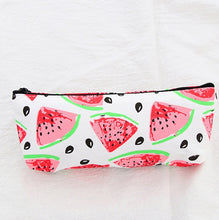 Load image into Gallery viewer, Flamingo Fruit Canvas Pencil Case