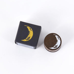 Retro Moon Phase Series Wooden Stamps