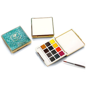 Paul Rubens Portable Watercolor set with Glitter/Metallic box-12 Colors