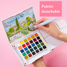 Load image into Gallery viewer, Sakura Portable Watercolor Set for beginner  - 24/36 Color