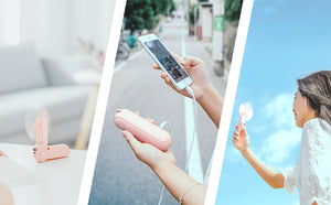 Cute Multi-function Handheld Mini Fan-Fan&PowerBank&Flashlight