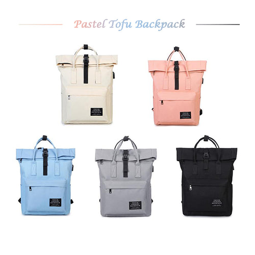 Pastel Tofu USB Chargeable Backpack