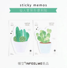 Load image into Gallery viewer, Cactus Love Sticky Memo Notes - Set Of 4 -paperhouse