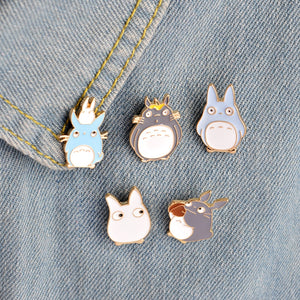🥇Friendly Totoro Enamel Pins - 5 pcs