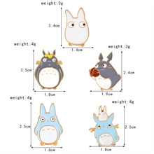Load image into Gallery viewer, 🥇Friendly Totoro Enamel Pins - 5 pcs