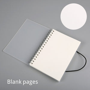 Clear Spiral Bound A5 + A6 Notebook - Dotted, Grid, Lined, To-Do, Diary & Blank Pages -paperhouse