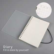 Load image into Gallery viewer, Clear Spiral Bound A5 + A6 Notebook - Dotted, Grid, Lined, To-Do, Diary & Blank Pages -paperhouse