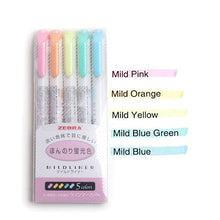 Load image into Gallery viewer, Zebra Mild Liner Double Headed Highlighte-3/5 Pcs -paperhouse