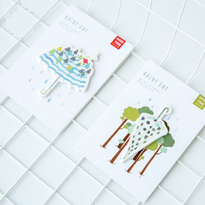 Rainy Day Sticky Notes-4pcs -paperhouse