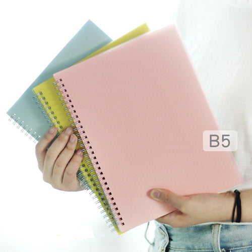 Colored Bullet Journal Grid/Blank/Dot/Line Coil Notebook - B5