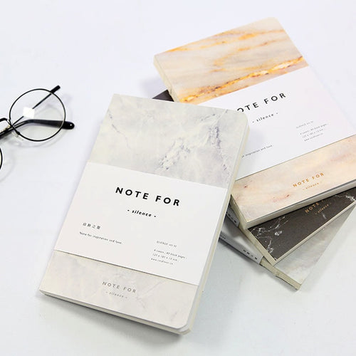 Note For Silence Marble Notebook -paperhouse