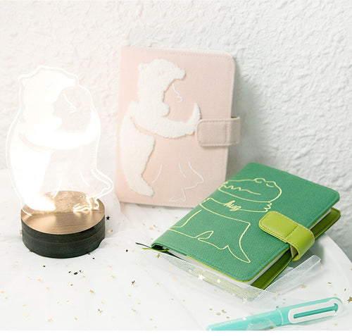 Kawaii Embroidery Cloth Travel Notebook - A6