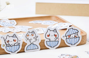 Candy Poetry Cup Cat Sticker-45 Pcs -paperhouse