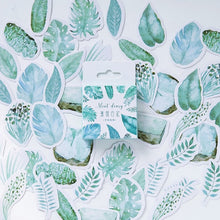 Load image into Gallery viewer, Mint  Green Leaves Sticker-45 pcs/box -paperhouse